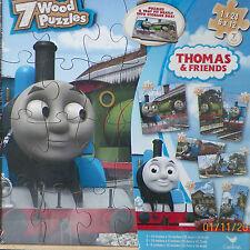 PUZZLE..JIGSAW....Thomas & Friends...7 Puzzle Set..Wooden..Sealed......Sealed