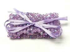 Floral Corsage Bracelet in Lavender Purple, Sweetheart Collection