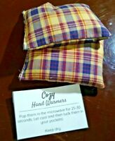 Rice hot or cold heating pad therapy microwave heat Hand Warmers Cozy Plaid