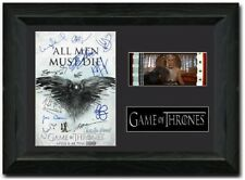 Game Of Thrones Cast Signed 35 mm Film Cell Display Framed Stunning collectable