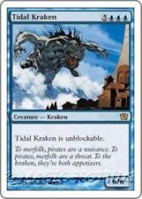 TIDAL KRAKEN Ninth Edition MTG Blue Creature — Kraken RARE