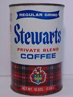 Old Vintage 1968 Stewart Stewarts GRAPHIC COFFEE TIN ONE POUND Chicago Illinois