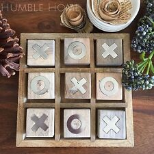 Rustic Wooden Noughts & Crosses Board/Handmade X and O's Game/Timber Tic tac toe