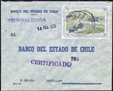 4000 CHILE REGISTERED COVER 1976 SHIPS LIFEBOATS VALDIVIA - FRUTILLAR
