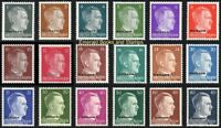 EBS German-Occupied OSTLAND 1944 - Hitler Heads - Michel 1//20 MNH**