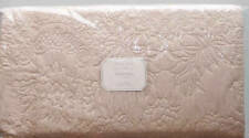 New Pottery Barn Monique Lhuillier Blossom Embroidered Full Queen Quilt Pink Nwt