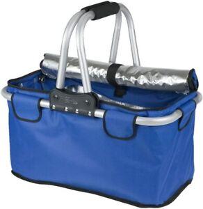 GENIUS Thermo-Einkaufskorb Aluminium 48x28x27cm blau (195599)