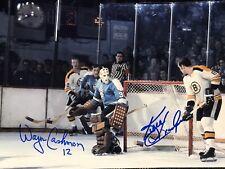 Wayne Cashman Ken Hodge Boston Bruins Autographed 8x10 Photo