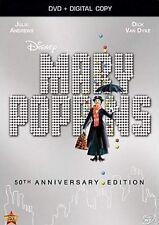 NEW DVD + DIGITAL - MARY POPPINS - JULIE ANDREWS , DICK VAN DYKE , GYNIS JOHNS
