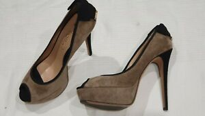 Ballin - Grey Suede High Heels with Bow - Size 41