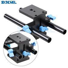 15mm Rail Rod Support System Baseplate Mount For DSLR Follow Focus Rig 7D 6D 5D3