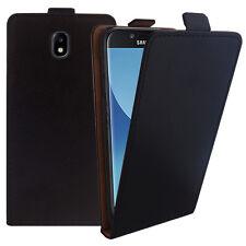 Funda Plegable Cuero PU Auténtico Samsung Galaxy Negro J5 Pro (2017) J530Y/DS