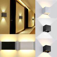 6W 12W Modern LED Wall Light Up Down Sconce Lamp Outdoor Waterproof Balcony RD