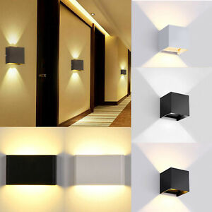 6W 12W Modern LED Wall Light Up Down Sconce Lamp Outdoor Waterproof Balcony RD