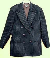 BANANA REPUBLIC DOUBLEBREASTED WOOL DRESSY GRAY LINED JACKET BLAZER, SIZE 12