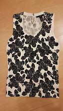 NEU H&M Shirt Top Oberteil ärmellos schwarz/weiß Größe 36/S Business