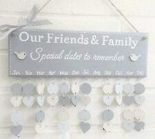 Family Birthday board calendar reminder friends plaque special dates handmade