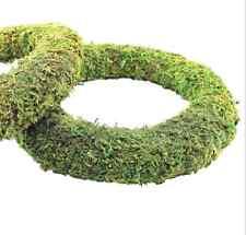 Moss Effect Ready Padded Wreath 25cm / 10 inch Dia - Ideal Festive Wreaths 2 Pk