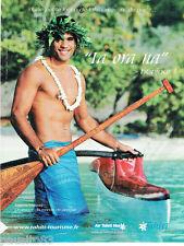 PUBLICITE ADVERTISING 125  2011  AIR TAHITI NUI   Taaroa Dubois champion pirogue