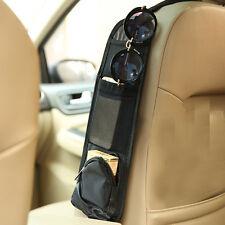 Car Side Back Seat Organiser Multi-Pocket Holder Pouch Storage Bag Black Bags