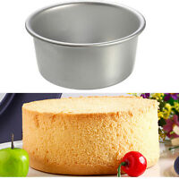 1X Round Aluminum Baking Tin Pan Mold Mould for Sandwich Cake Kitchen Tool