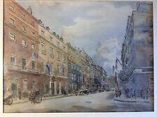 HANSLIP FLETCHER  QUEEN STREET, MAYFIELD Vintage, Architectural Subject, Framed