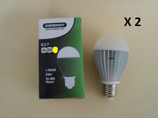 2 X E27 240V 8W LED Warm White Globe -- Bright as 60W!!