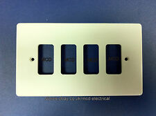 Crabtree 5574 Grid Switch Cover Plate - 4 Gang White.