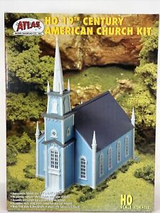 Atlas 19th Century American Church Building Model Kit HO 708