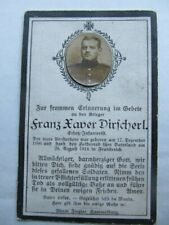 Really Rare Wwi German Death Card, Early Casualty Kia August 1914 & Actual Photo