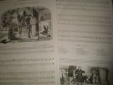 Old Music Sheets The Dangers Charles Mackay Sir H R Bishop 1856 ref AT