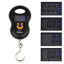 1.5'' LCD Digital Fish Hanging Luggage Weight Electronic Hook Scale 10G/50KG
