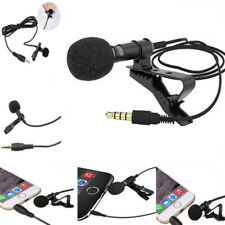 Lavalier Mic Microphone Case For IPhone Smart Phone Recording PC Clip-on LapelBH