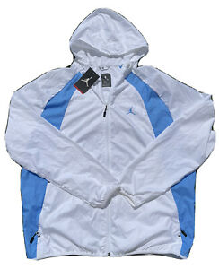 Nike Air Jordan 'UNC BLUE' Windbreaker 897884-102 Size XL Men's White/UNC Blue