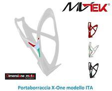"0195 - Portaborraccia ""MV-TEK"" modello ITA Bianco per Bici 26-28 Corsa Strada"