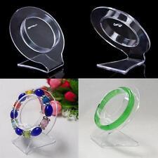 Jewelry Bracelet Round Organizer Rack Plastic Display Show Stand Holder Home ba