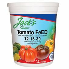 JR Peters Jack's Classic 12-15-30 Tomato Feed 1.5 lb. Fertilizer Plant Food