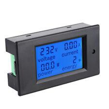LCD AC 80-260V 0-100A Digital Voltage Volt Current Meter Panel Power Energy Neu