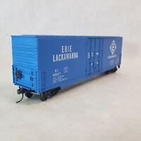 Details West HO Erie Lackawanna 69357 50' Insulated Train Box Car KDs BC704