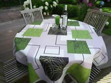 Mantel Provenza 160Cm Redondo Verde Beige Francia, Fácil de Cuidar,