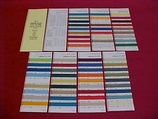 1971 CHEVROLET GMC FORD TRUCK COLOR PAINT CHIPS CHART BROCHURE GUIDE 71