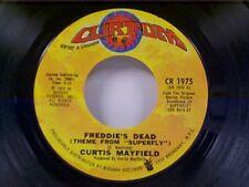 """CURTIS MAYFIELD """"FREDDIE'S DEAD / UNDERGROUND"""" 45 NEAR MINT"""