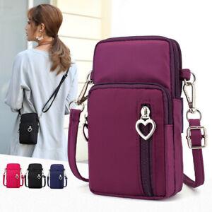 Women's Crossbody Cell Phone Shoulder Bag Belt Pouch Purse Case Small Wallet