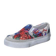 scarpe donna 2 STAR 39 EU slip on multicolore tessuto BZ526-E