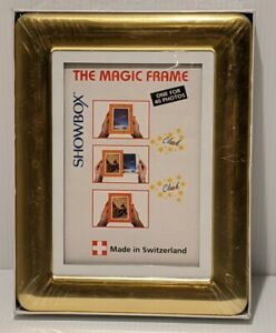 Gold Magic Frame Load & View 40 Photos (4x6) Perfect Gift Wedding WSwitzerland