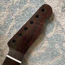 One Piece Wenge wood T-Style Guitar Neck, Bone Nut. 9.5 radius