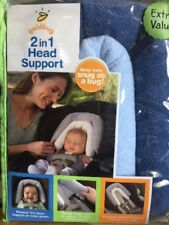 New Goldbug - 2-in-1 Head Support - Navy / Light Blue Free Express Shipping