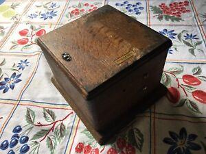 VINTAGE WESTERN ELECTRIC 5 MAGNET 48A HAND CRANK MAGNETO IN OAK BOX