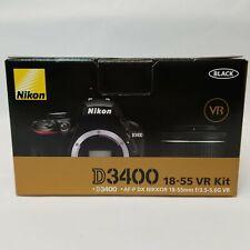 Nikon D3400 Kit AF-P DX 18-55mm F/3.5-5.6G VR Lens Digital SLR Camera Black