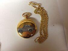 Reloj de bolsillo Austin A35 2 puerta ref7 Coche Efecto de estaño en un estuche de oro pulido